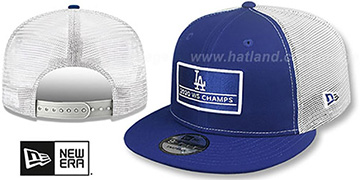 Dodgers 2020 WS CHAMPS TRUCKER SNAPBACK Royal-White Hat by New Era