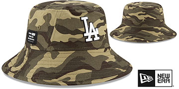 Dodgers 2021 ARMED FORCES STARS N STRIPES BUCKET Hat by New Era