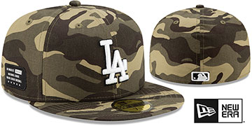 Dodgers 2021 ARMED FORCES STARS N STRIPES Hat by New Era