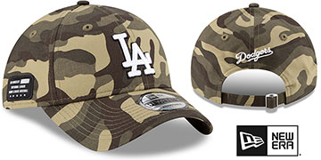 Dodgers 2021 ARMED FORCES STARS N STRIPES STRAPBACK Hat by New Era