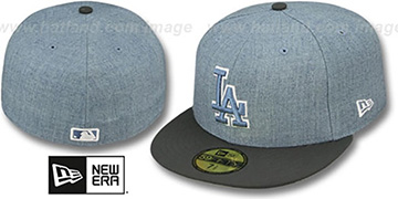 Dodgers '2T-HEATHER' Blue-Grey Fitted Hat by New Era