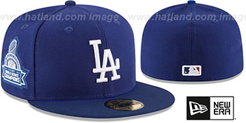 Dodgers 5X 'TITLES SIDE-PATCH' Royal Fitted Hat by New Era