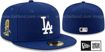 Dodgers 7X WORLD SERIES CHAMPIONS Royal Fitted Hat by New Era