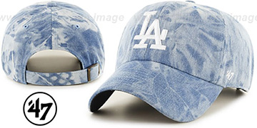 Dodgers 'ACID WASH STRAPBACK' Hat by Twins 47 Brand