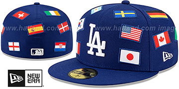 Dodgers 'ALL-OVER COUNTRY FLAGS' Royal Fitted Hat by New Era
