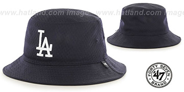 Dodgers 'BACKBOARD JERSEY BUCKET' Navy Hat by Twins 47 Brand