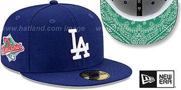 Dodgers BANDANA KELLY BOTTOM Royal Fitted Hat by New Era