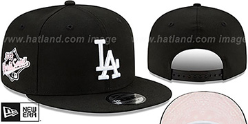 Dodgers BANDANA PINK BOTTOM SNAPBACK Black Hat by New Era