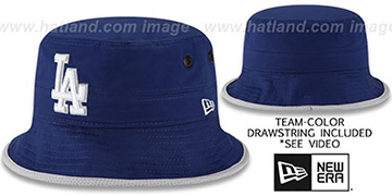 Dodgers 'BASIC-ACTION' Royal Bucket Hat by New Era