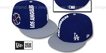 Dodgers BEELINE Royal-Grey Fitted Hat by New Era