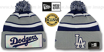 Dodgers 'BIG-SCREEN' Knit Beanie Hat by New Era