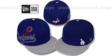 Dodgers 'BIG-STITCH' Royal-Grey Fitted Hat by New Era