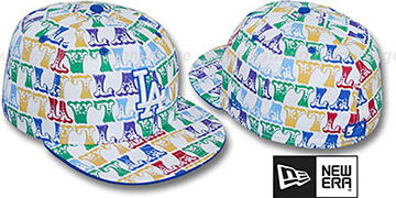 Dodgers 'BIG-TOP' White-Multi Fitted Hat by New Era