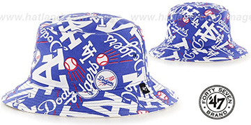 Dodgers BRAVADO BUCKET Hat by Twins 47 Brand