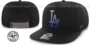 Dodgers 'BURNING-MAN SNAPBACK' Black Hat by Twins 47 Brand