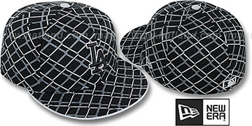 Dodgers 'CHAIN-LINK' Black Fitted Hat by New Era