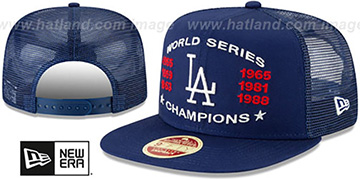 Dodgers CHAMPIONS TRUCKER SNAPBACK Royal Hat by New Era