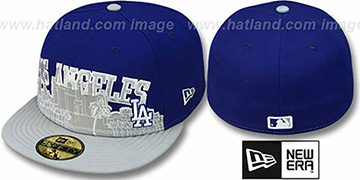 Dodgers CITY-LINE Royal-Grey Fitted Hat by New Era