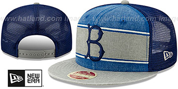 Dodgers COOP HERITAGE-BAND TRUCKER SNAPBACK Royal-Grey Hat by New Era