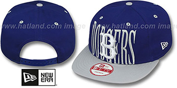 Dodgers COOP STEP-ABOVE SNAPBACK Royal-Grey Hat by New Era