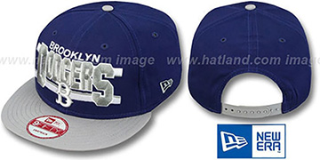 Dodgers COOP WORDSTRIPE SNAPBACK Royal-Grey Hat by New Era