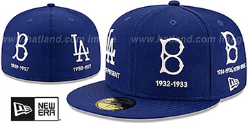 Dodgers COOPERSTOWN EVOLUTION-2 Royal Fitted Hat by New Era
