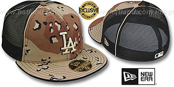 Dodgers 'DESERT STORM MESH-BACK' Fitted Hat by New Era