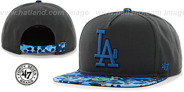 Dodgers 'DRYTOP STRAPBACK' Grey Hat by Twins 47 Brand