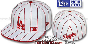 Dodgers 'FABULOUS' White-Red Fitted Hat by New Era