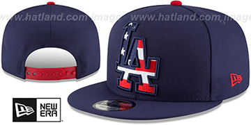 Dodgers 'FLAG FILL INSIDER SNAPBACK' Navy Hat by New Era