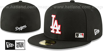 Dodgers 'FLAWLESS PINNED-UP' Black Fitted Hat by New Era