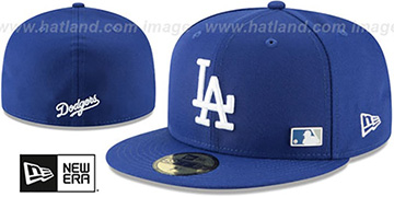 Dodgers 'FLAWLESS PINNED-UP' Royal Fitted Hat by New Era