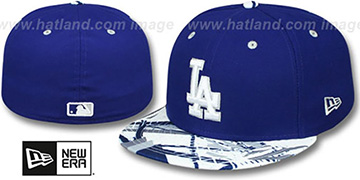 Dodgers 'GEOMET TRICK' Royal Fitted Hat by New Era