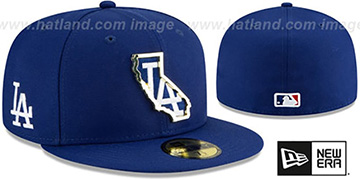 Dodgers GOLD STATED INSIDER Royal Fitted Hat by New Era