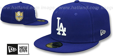 Dodgers 'GOLDEN-HIT' Royal Fitted Hat by New Era