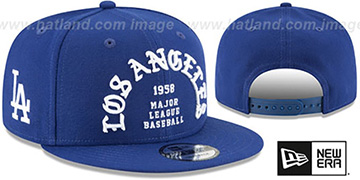 Dodgers 'GOTHIC-ARCH SNAPBACK' Royal Hat by New Era
