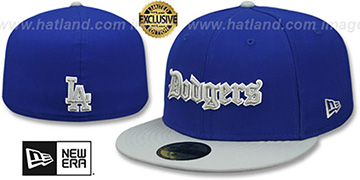 Dodgers GOTHIC TEAM-BASIC Royal-Grey Fitted Hat by New Era