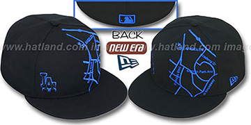 Dodgers 'GPS' Black-Royal Fitted Hat by New Era