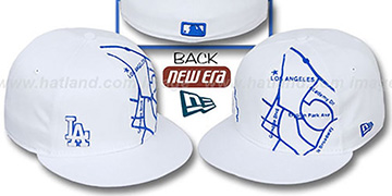 Dodgers 'GPS' White-Royal Fitted Hat by New Era