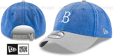 Dodgers GW COOP RUGGED CANVAS STRAPBACK Royal-Grey Hat by New Era