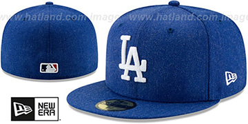 Dodgers 'HEATHER-CRISP' Royal Fitted Hat by New Era