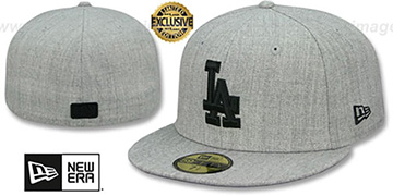 Dodgers 'HEATHER-POP' Light Grey Fitted Hat by New Era