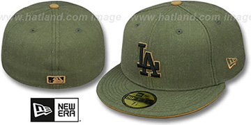 Dodgers 'HEATHER SLICE' Olive Fitted Hat by New Era