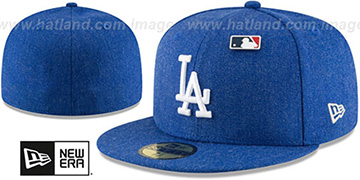Dodgers 'HEATHERED-PIN' Royal Fitted Hat by New Era