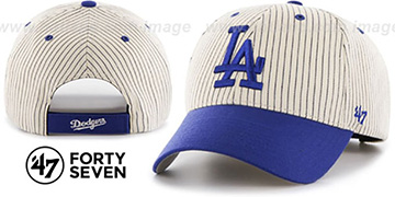 Dodgers HOME-RUN PINSTRIPE STRAPBACK Hat by Twins 47 Brand