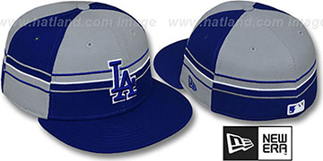 Dodgers 'HORIZONTAL WRAP' Royal-Grey Fitted Hat by New Era