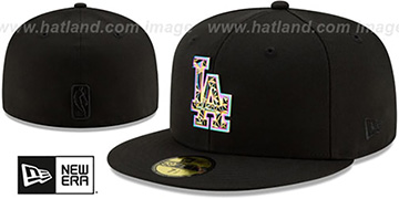 Dodgers IRIDESCENT COLOR-SHIFT Black Fitted Hat by New Era