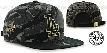 Dodgers JULIGUNK STRAPBACK Grey-Camo Hat by Twins 47 Brand