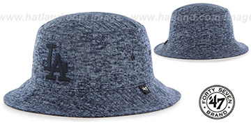 Dodgers 'LEDGEBROOK BUCKET' Navy Hat by Twins 47 Brand