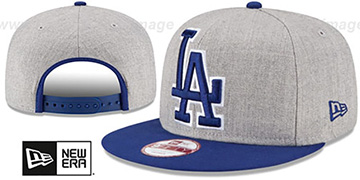 Dodgers 'LOGO GRAND SNAPBACK' Grey-Royal Hat by New Era